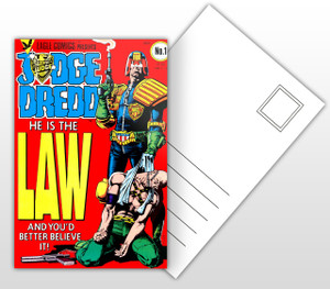 Eagle Comics Presents Judge Dredd He Is The Law Postal Card