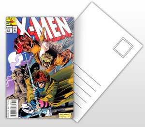X-Men #33 Comic Cover Postal Card