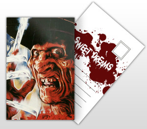 Freddy Krueger Sweet Dreams Movie Poster Postal Card