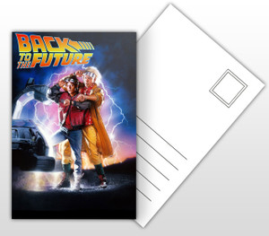 Back to the Future Movie Poster Postal Card