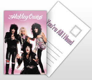 Motley Crue You're All I Need Album Cover Postal Card
