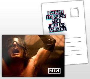 Nine Inch Nails Animal Music Postal Card