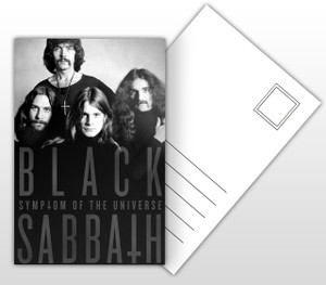 Black Sabbath Symptom of the Universe Album Cover Postal Card