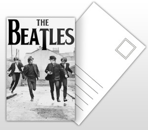 The Beatles Band Picture Postal Card