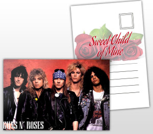 Guns N' Roses Sweet Child of Mine Album Cover Postal Card