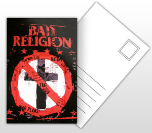 Bad Religion Paper Cross Music Poster Postal Card