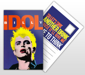 Billy Idol Dancing With Myself Postal Card