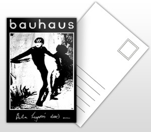 Bauhaus Bella Lugosi Is Dead Album Cover Postal Card