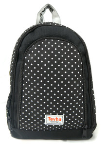 Tevha Supplies - White Polka Dot Cosmy Mini Backpack