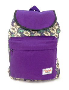 Tevha Supplies - Purple and Flower Pattern Pop Rome Backpack
