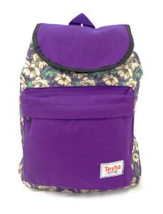 Tevha Supplies - Purple and Flower Pattern Pop Rome Backpack