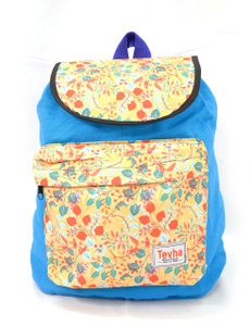 Tevha Supplies - Light Blue and Leaves Pattern Pop Rome Backpack