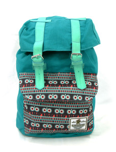 Tevha Supplies - Aqua and Greca Pattern Old Boy Backpack