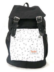 Tevha Supplies - Black and White Ant Pattern Old Boy Backpack