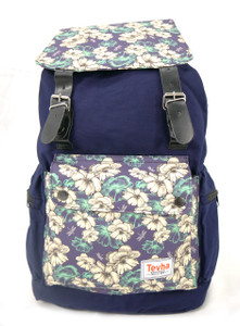 Tevha Supplies - Blue and White Flower Pattern Old Boy Backpack