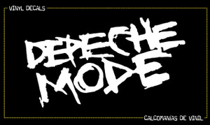 "Depeche Mode Shalk Logo 6.5x3.5"" Vinyl Cut Sticker"