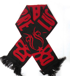 "Lucha Libre Pattern 58x9"" Black and Red Scarf"