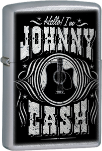 Johnny Cash Guitar Chrome Lighter