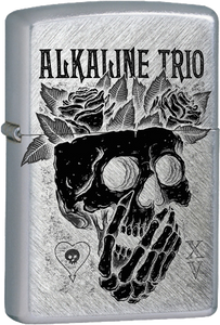 Alkaline Trio Skull and Roses Chrome Lighter