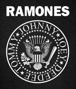 """Ramones - Eagle Logo Backpatch 12x16"""""""