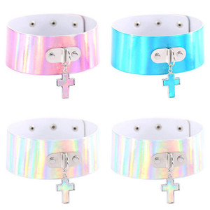 Thick Holographic Choker With Cross