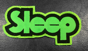 "Sleep Green Logo 4.5"" Embroidered Patch"