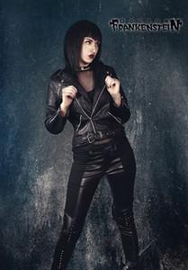 Dr. Frankenstein - Women's Faux Leather Biker Jacket