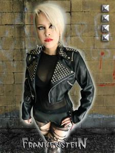 Dr. Frankenstein - Women's Faux Leather Biker Bolero Jacket
