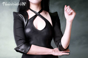 Dr. Frankenstein - Women's Faux Leather Spikey Bolero Jacket