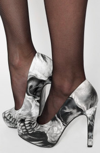 Iron Fist - Dead on Platform Heels w/ Skull Print