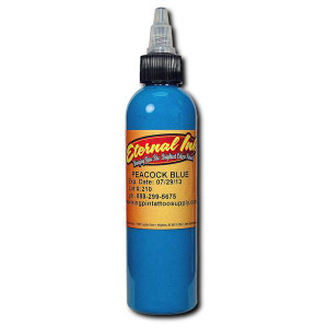 Eternal Ink .5oz Tattoo Ink Bottle - Peacock Blue