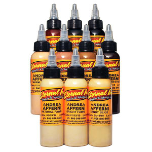Eternal Ink 1/2oz Tattoo Ink Bottles 10 pieces - Andrea Afferni Portrait Set