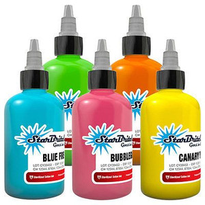 Starbrite Tattoo Ink Bottles .5oz  - Neon Set 5 Pieces