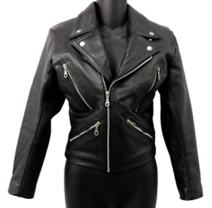 Solo Piel - Women's Black Biker Leather Jacket