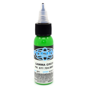 Fusion Ink - Gamma Green 1 Ounce Tattoo Ink Bottles