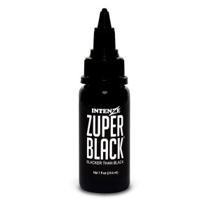 Intenze Ink - Zuper Black 1 Ounce Tattoo Ink Bottles