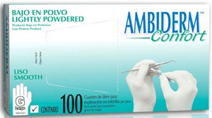 Ambiderm - Confort Latex Gloves Box with  100 pieces