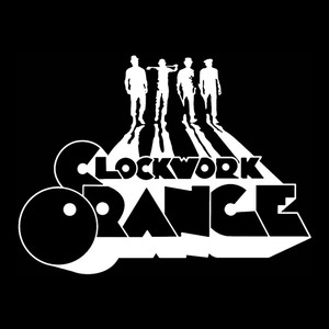 "Clockwork Orange Silhouette 4x4"" Printed Sticker"