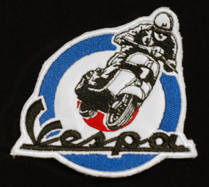"Vespa - Scooterist 3.25"" Embroidered Patch"