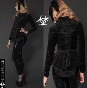 Lip Service - Black Velvet Corset Jacket
