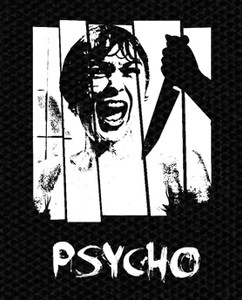 "Alfred Hitchcock's Psycho 4x5"" Printed Patch"