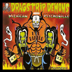 "Dragstrip Demons - Mexican Psychobilly 4x4"" Color Patch"