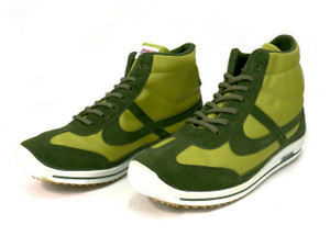 Panam - Lime Leather Hi-Top Unisex Sneaker