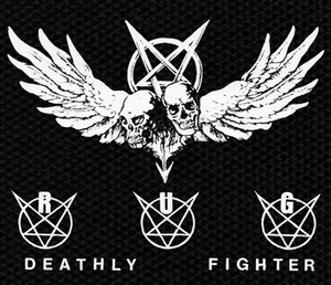 "Randy Uchida Group - Deathly Fighter 4.5x4"" Printed Patch"