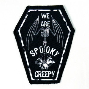 "Go Rocker - We Are Spooky Creepy 6.75x3.5"" Coffin Patch"
