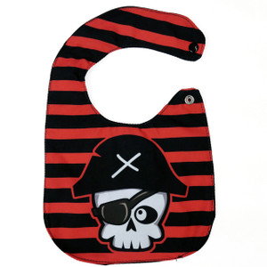 Go Rocker - Skull Pirate Baby Bib