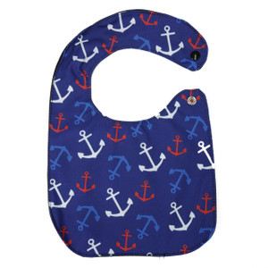 Go Rocker - Anchor Pattern Baby Bib