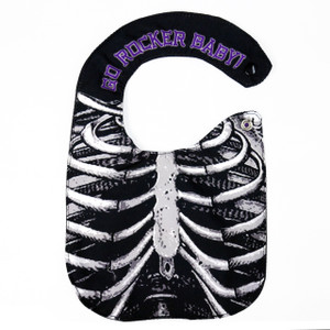 Go Rocker - Rib Cage Baby Bib