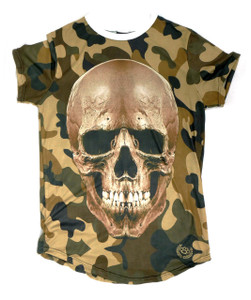 Poizon Clothing - Camouflage T-Shirt with  Skull