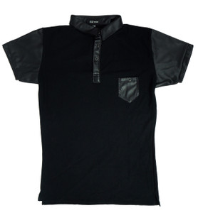 Fango Clothing - Black Polo Shirt w/ Vinyl details